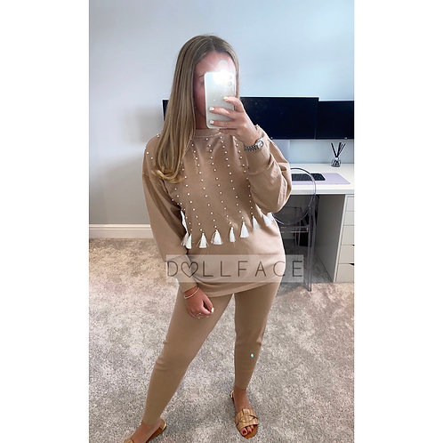 Kim Tassel Taupe Loungewear