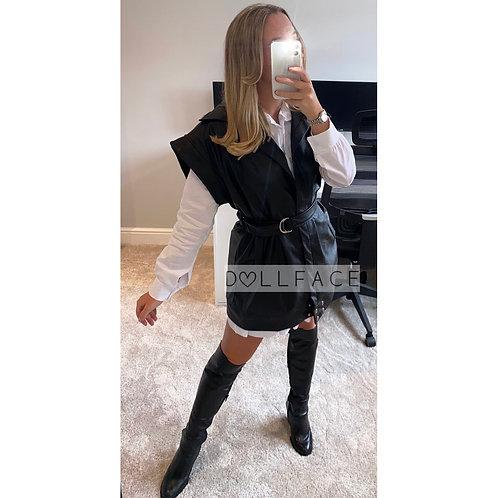 Leah Faux Leather Waistcoat - 2 Colours