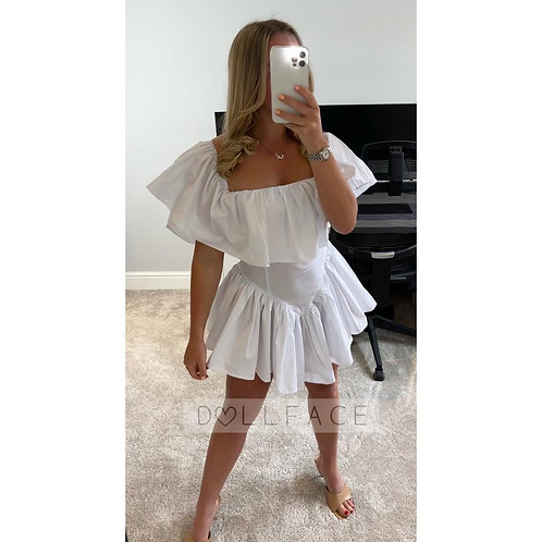 LOU Fitted Tiered Dress