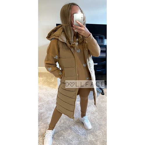 Bella Tan Long Gilet