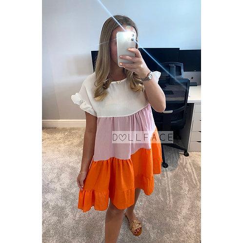 Lacey Block Colour Dress - 2 Colours