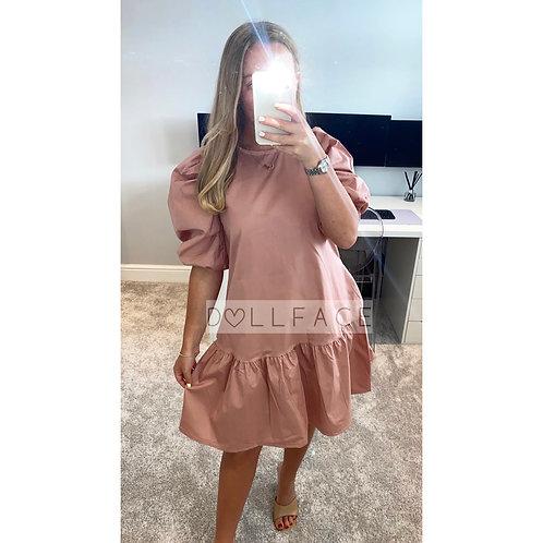 Talia Poplin Pink Dress