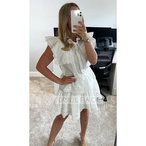 AVA White Skirt Set
