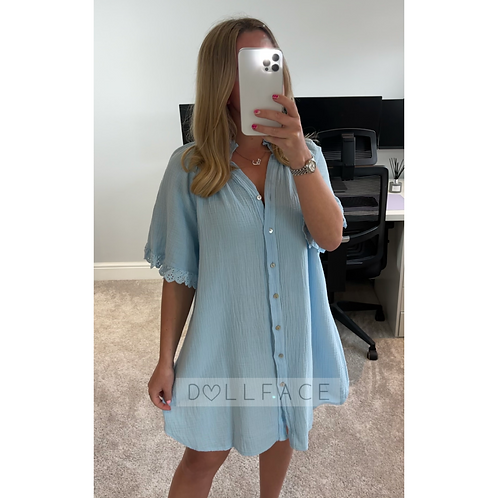 HARLOW Cheesecloth Dress - 2 Colours