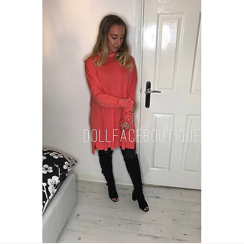 Ella Pearl Jumper Dress - 2 Colours