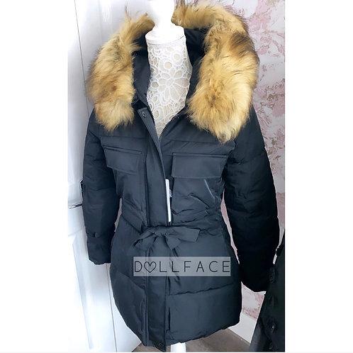 Becky Faux Fur Puffer Jacket