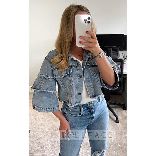 LILY Cropped Denim Jacket