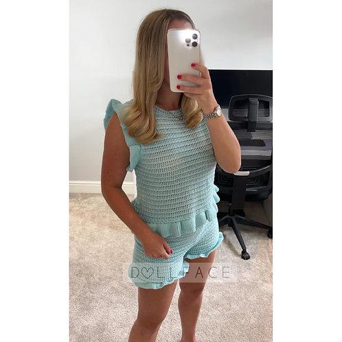 KATIE Knitted Short Set