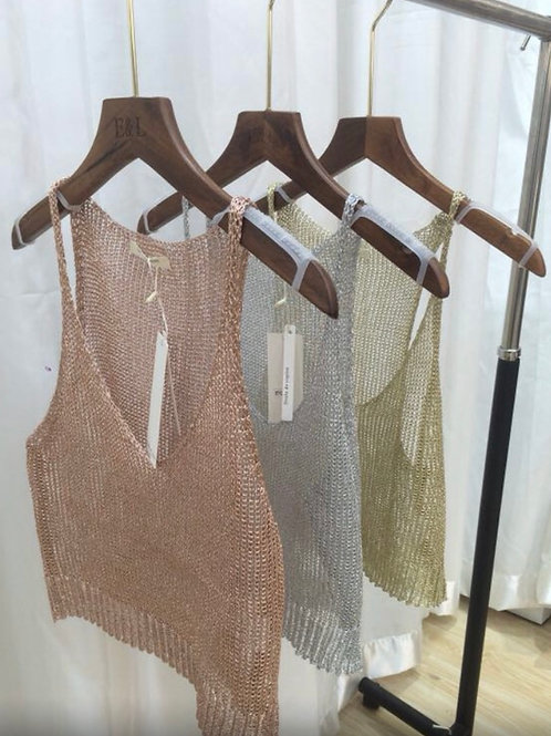 Brooke Metallic Top - 3 Colours