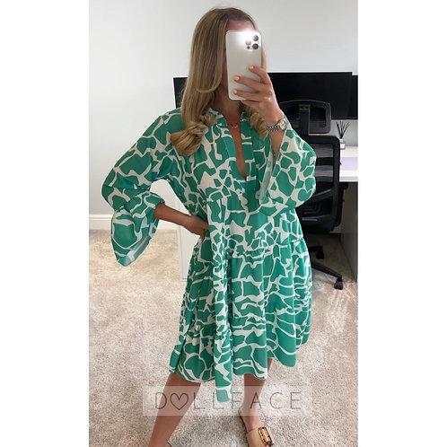 LUCY Giraffe Print Swing Dress - 5 Colours