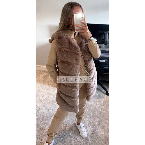 Lily Mocha Faux Fur Gilet