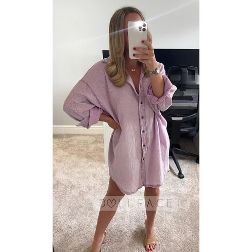 SUSIE Cheesecloth Shirt Dresses - 3 Colours