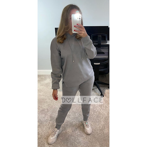 ELENA Grey Hooded Set