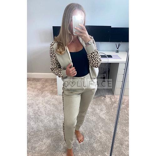 Margot Beige Leopard Loungewear