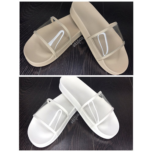 Gabbie Clear Sliders - 2 Colours