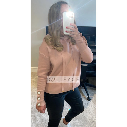 Imogen Knitted Hoodie - 2 Colours