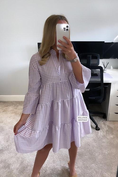 GEORGIA Gingham Swing Dress - 3 Colours
