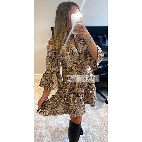 Camila Snake Tiered Dress