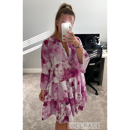 Jade Purple Tie Dye Dress