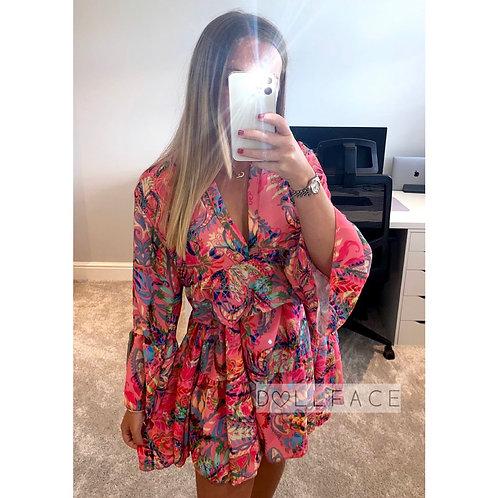Jade Floral Print Dress