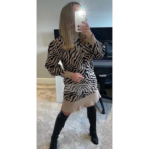 ZEBRA Fluted Jumper Dress