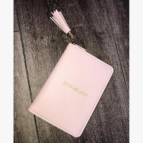 Slogan Pink Passport Cover