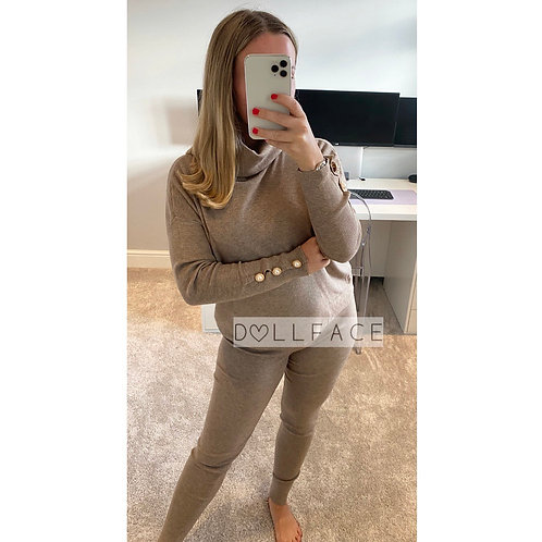 Miley Roll Neck Loungwear - 2 Colours