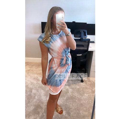 Sadie Two Tone Tie Dye Dress
