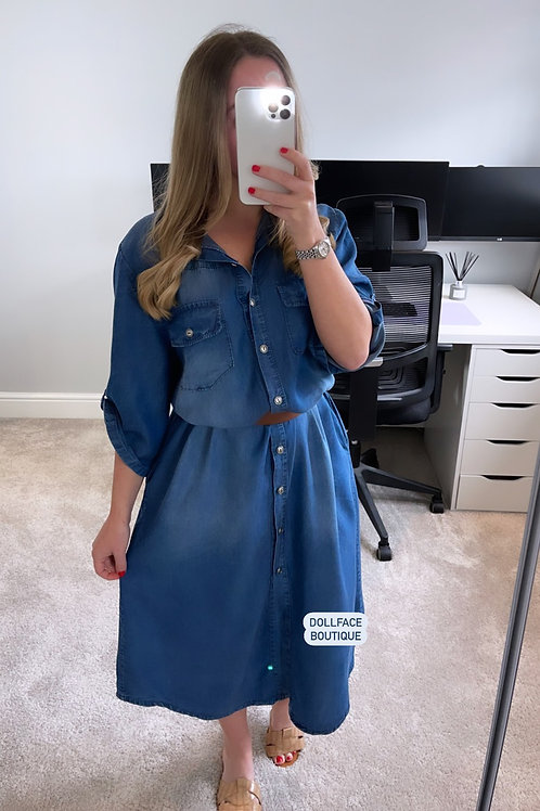 RUBY Maxi Denim Dress
