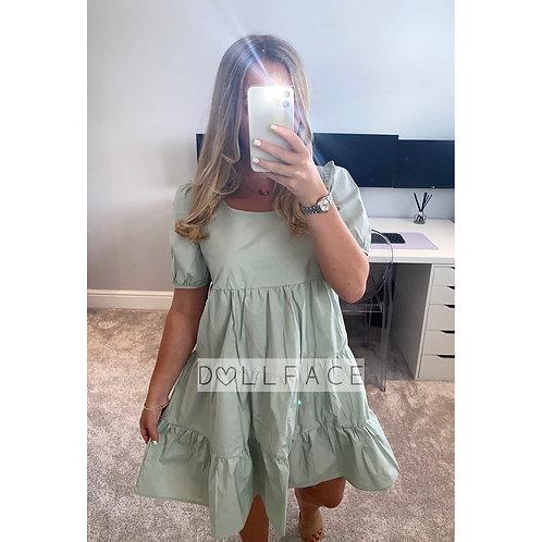 Bea Mint Tiered Dress