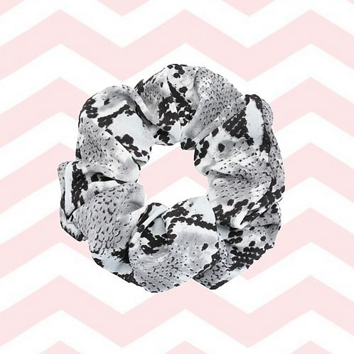 Scrunchie snake-print