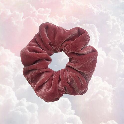 Scrunchie velvet roze