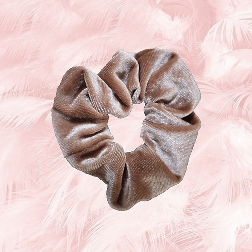 Scrunchie velvet brons