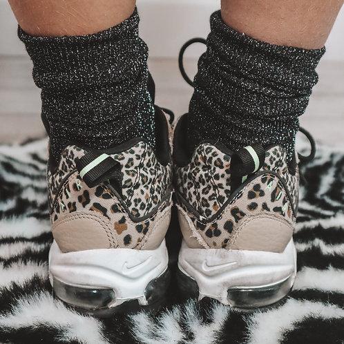Glitter sokken zwart