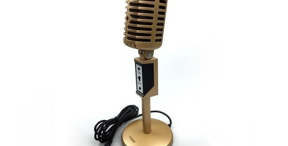 Microfono Multimedia Vintage c/ pie Noga Mic-2030