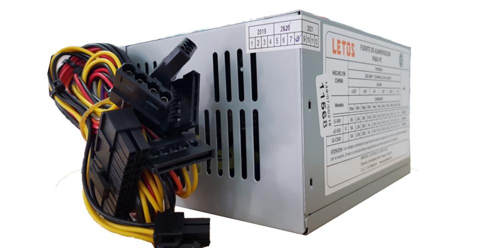Fuente de alimentacion Letos para CPU ATX 550