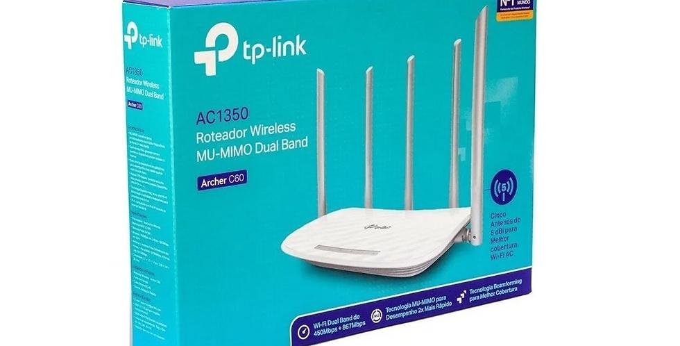 Router Wi-Fi tp-link Archer C60 450 Mbps. 5 antenas 2. 4 GHz y 5 Ghz