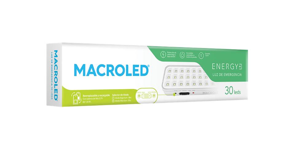 Luz de emergencia Macroled 30 LEDs 1.6W max..