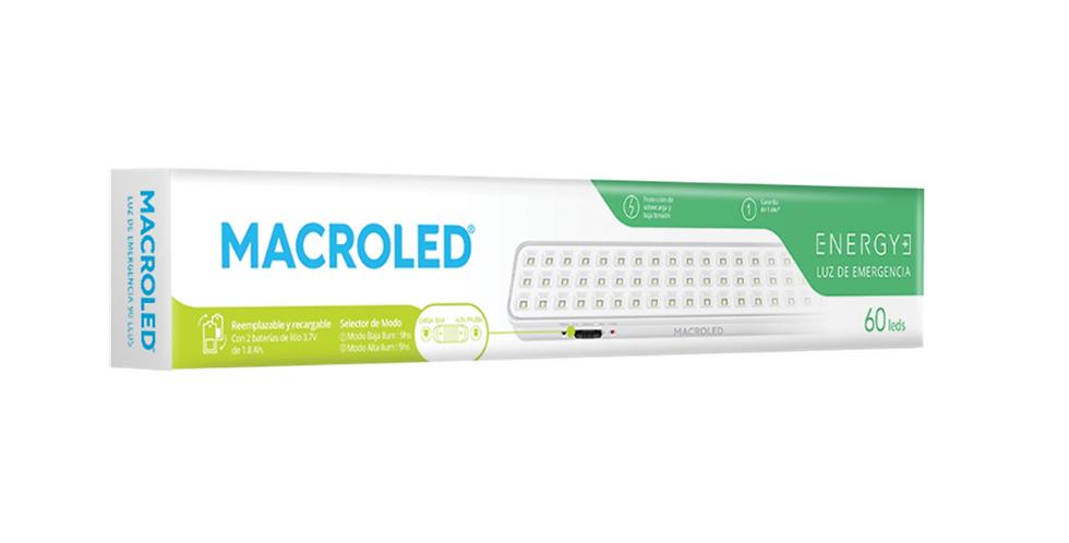 Luz de emergencia Macroled 60 LEDs  3.2W max.