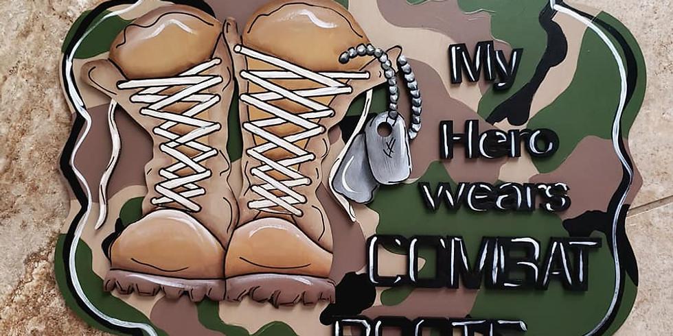 Combat Boot Cutout