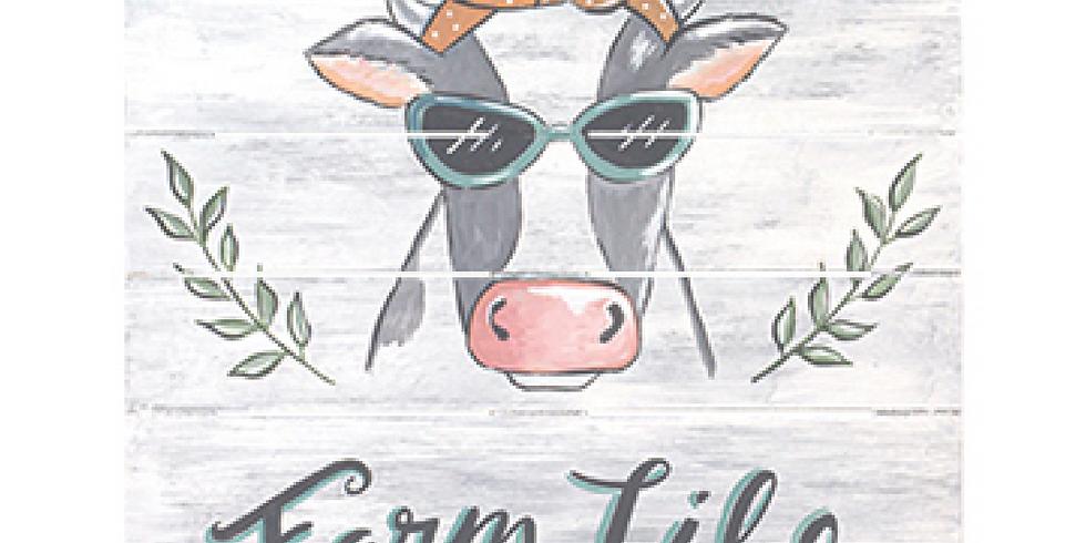 Farm Life Canvas Painting
