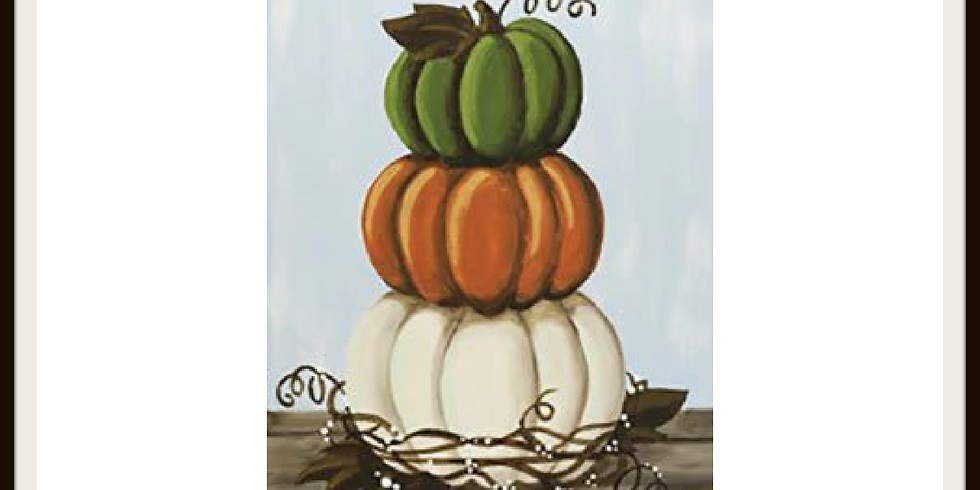 Stacked Pumpkin Canvas Painting