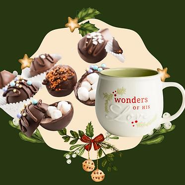Christmas Holiday Greeting Gift Circle Sticker .png