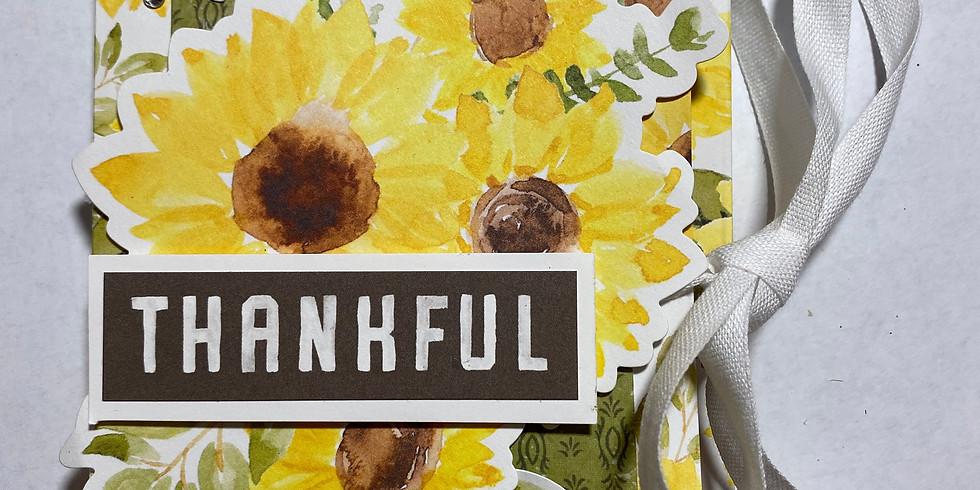 Thankful Sunflower Journal