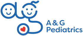 A & G Pediatrics logo.