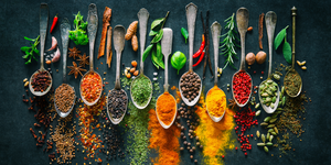 A variety of spices
