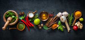 colorful herb and spices