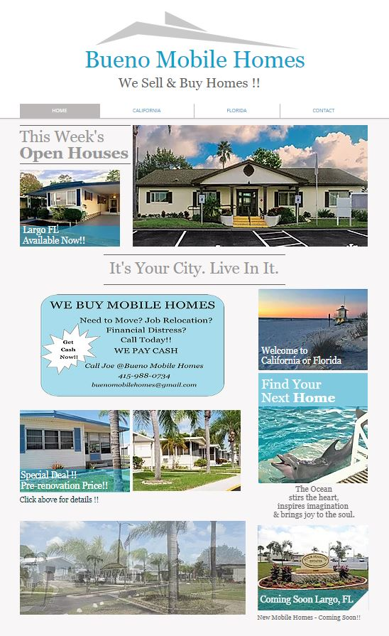 Bueno Mobile Homes Website