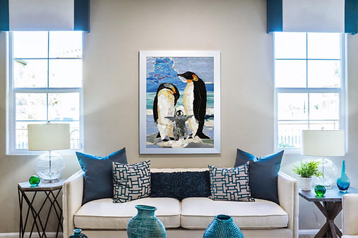Living Room - Penguin Mosaic
