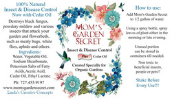 Mom's Garden Secret - Label - Insect & D